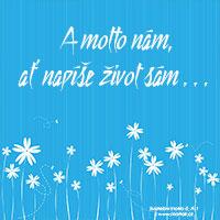 Svatební motto: A motto nám...
