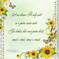 Svatební verš: A na konec Ti celý svět se v jedno srdce zúží...