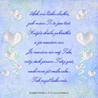 Verš na svatební oznámení: Ach má lásko sladká...