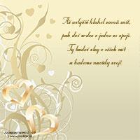 Svatební verš: Až uslyšíš hlahol zvonů znít...