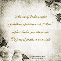 Svatební verš: Až závoj budu zvedat...