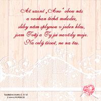 Verš na svatební oznámení: Až zazní Ano obou nás...