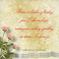 Svatební verš: Beru si lásku z lásky...