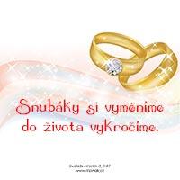 Svatební motto: Snubáky si vyměníme...